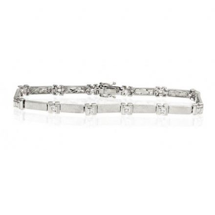 9K White Gold 0.25ct Diamond Bracelet, G1142